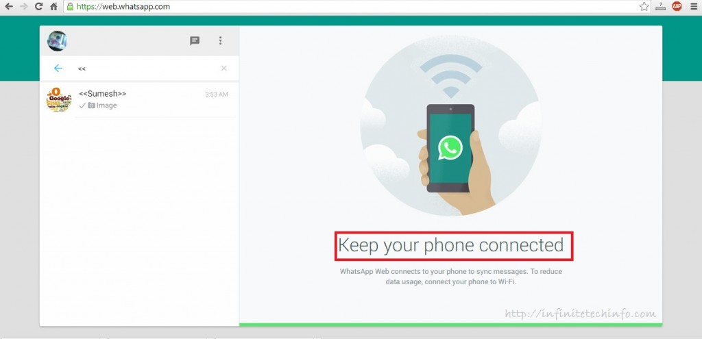 Use WhatsApp on Desktop Via WhatsApp Web