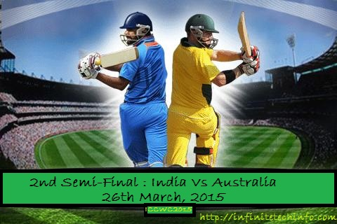 Big Match 2nd Semi Final: India Vs Australia-Watch Live Online-Live Streaming ICC Cricket World Cup 2015