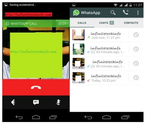 WhatsApp Voice calling Feature ScreenShot