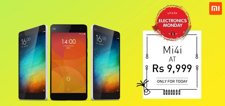 Mi4i at Cheap price at Snapdeal Monday Electronics sale