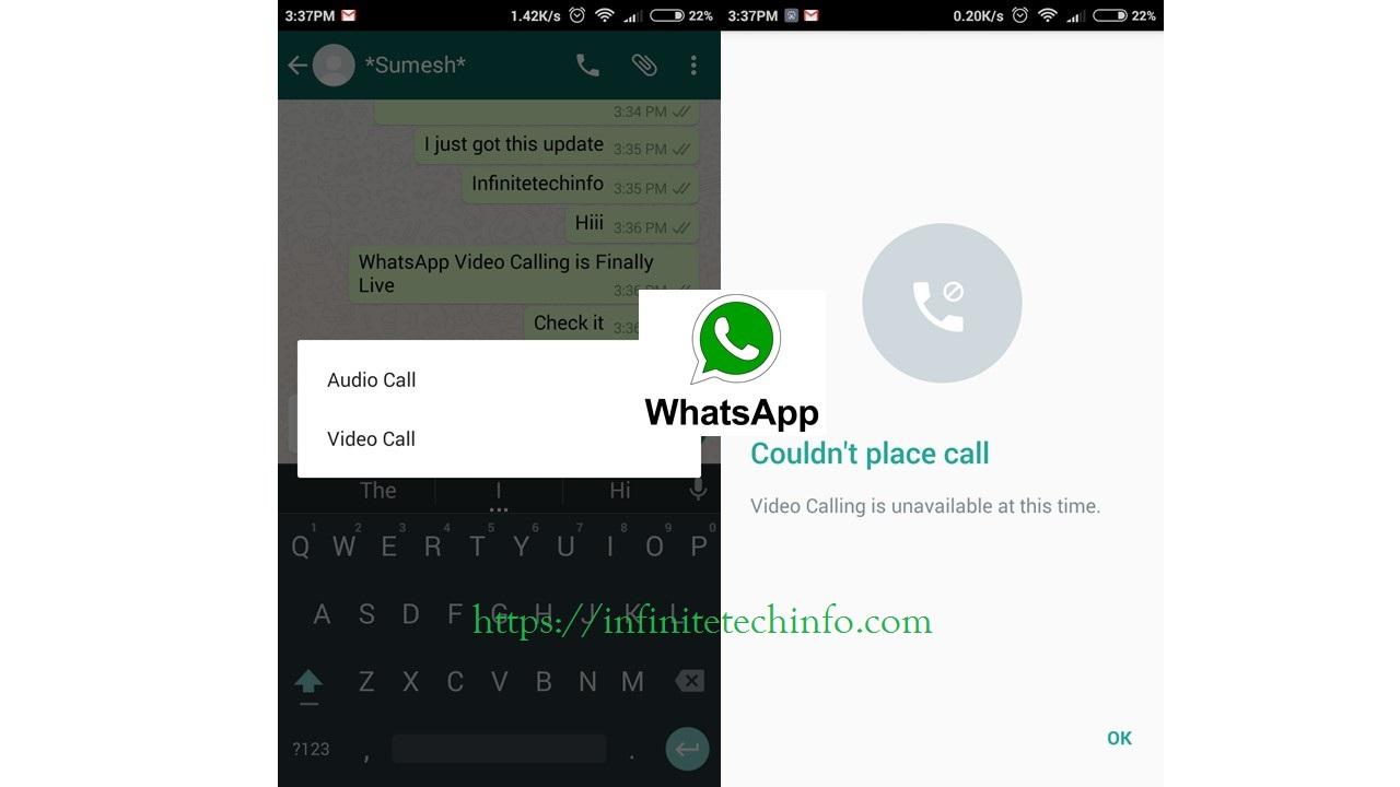whatsApp Video Calling Feature