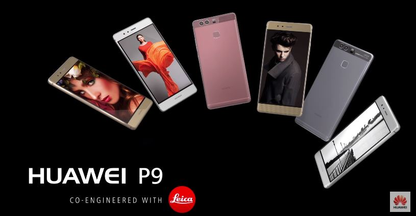 huawei p9 with dual lens leica camera
