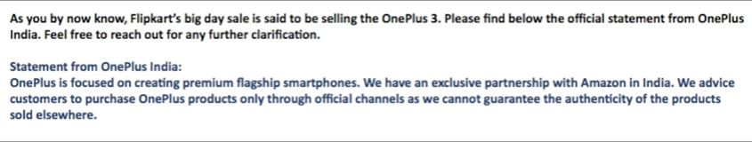OnePlus Official Press Release