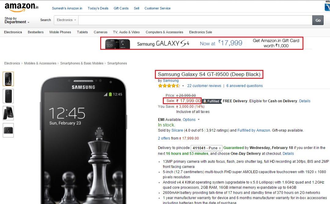 Samsung Galaxy S4-GT I9500