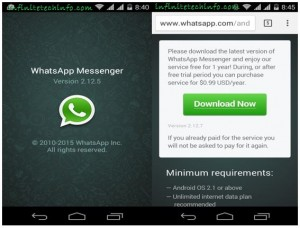 WhatsApp calling Feature Available Versions