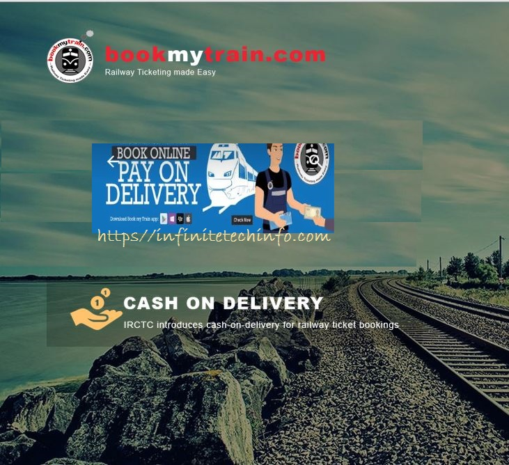 Now Book Your Train Tickets with Cash on Delivery (COD) Payment Option
