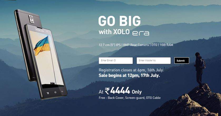 SnapDeal Launched Xolo Era – Registrations and Sale in India