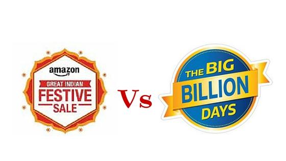 Amazon festive sale Vs flipkart big billion day