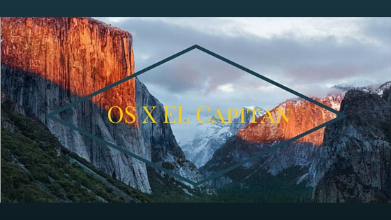 OS X El Capitan Available for update/download