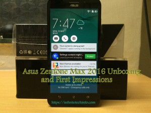New Asus Zenfone Max 2016