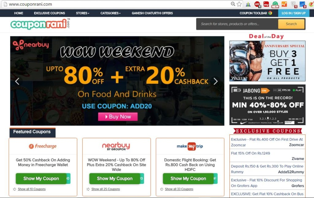 CouponRani Website