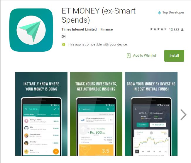 ET Money (SmartSpends) Review - The Money Manager