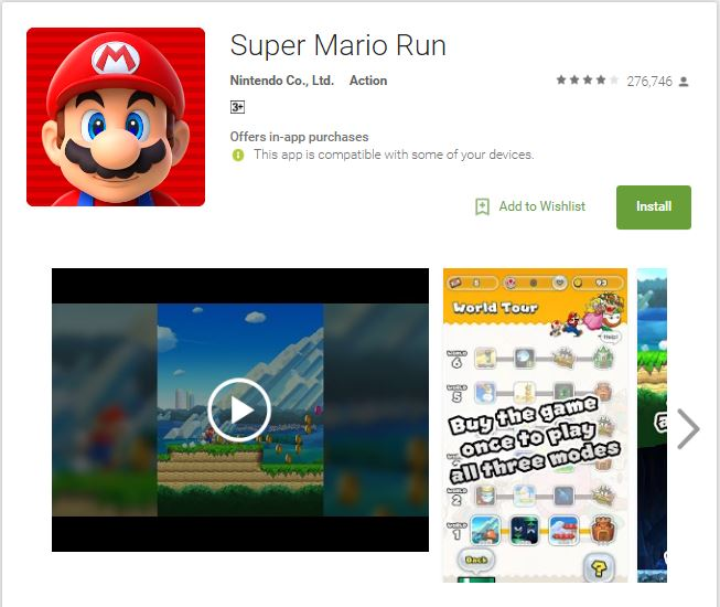 Super Mario Run on Android Download