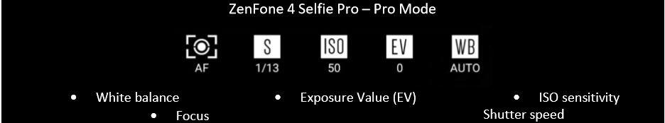 Asus Zenfone 4 Selfie Pro Mode