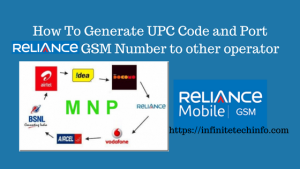 How To Port Reliance GSM Number to other operator