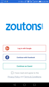 Zoutons android app